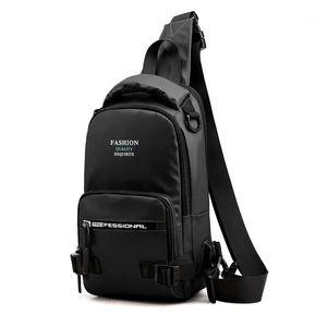 Men Chest Rucksack Crossbody Sling USB Casual Male Backpacks1 Shoulder Bags Nylon Backpack One Interface Charging Rtjrs