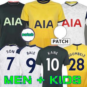 Erkekler + Çocuk Kiti 20 21 Kane Son Bergwijn Ndombele Futbol Formaları 2020 2021 Lucas Dele Tottenham Jersey Futbol Kiti Gömlek Lo Celso Ev Bale