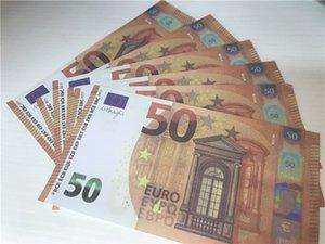 2021 grenzüberschreitender Hot-Selling-Filmgeld Euro 50 Papierkopie-Banknote-Prop-Geld Euro 100pcs / Pack 04