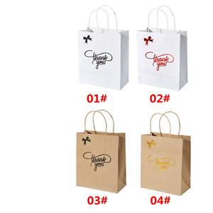 جديد التسوق حمل حقيبة طباعة شعار هدية بسيطة كرافت ورقة حقيبة شكرا لك ورق الكرافت حمل حقيبة 4 أنماط 3 أنواع من المواصفات DHD4593