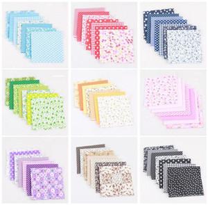Tissu coton carré 50 * 50 cm Petite tissu de tissu de tissu floral imprimé Coton bricolage à la main Patchwork Aiguillez la décoration DWD2729