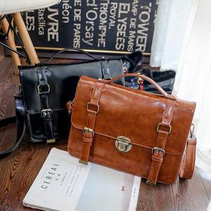 Regalo di Natale Steampunk British donne borse Steam Punk Retro borse della signora borsa a tracolla di lavoro valigetta colore puro