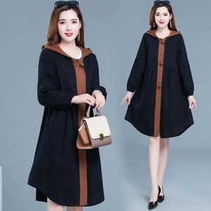 Temperament fashion 2020 new western style jacket age reduction cloak windbreaker women casual mid-length hooded jacket trend