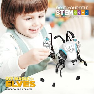 SUBOTECH DIY Blocks Electronic Toys Singing Walking Electric Bee Pet Toys For Children Kids Boy Girl Electronic Pets Gift Toy 201212