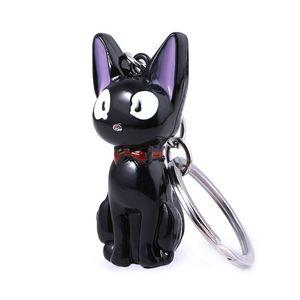مجوهرات تقديم الخدمات القطة السوداء 3D سلسلة المفاتيح قلادة حلقة مفاتيح ميازاكي هاياو كيكي