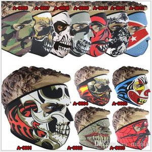 Neoprene Full Face Mask Teschio di Halloween Costume Party Maschera Moto Bike Sci Snowboard Sport Balaclava