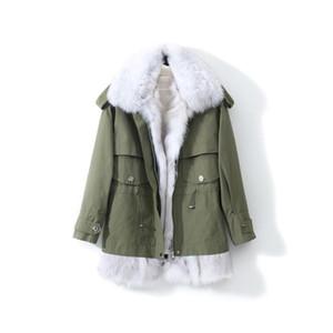 Liner Jacket Rex Fur Collar Women's Coats 90% White Duck Down Female Winter Parkas Chaqueta Mujer Zjt768