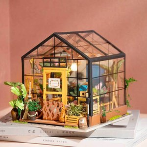 DIY hut hand-assembled toy building model decoration wooden 3d three-dimensional puzzle creative birthday holiday gift female