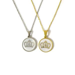 Fairladyhoodyhood Clavicelar Chain King Crown Coundant Ожерелье из нержавеющей стали Свитер цепь мужчин Ожерелье из корпуса Ювелирные изделия Nacklace