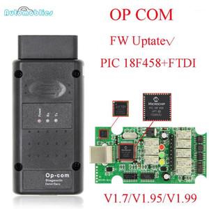 OPCOM V1.99 V1.70 V1.95 V1.95 OBD 2 CAN-Code Code Reader pour OP Com OP-COM OBD2 Scanner de diagnostic Pic18F458 FTDI FT232 V5 Chip1