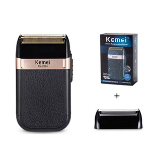 Kemei KM-2024 Electric Shaver for Men Waterproof Reciprocating Cordless Razor USB Rechargeable Shaving Machine Barber Trimmer with Replaceme