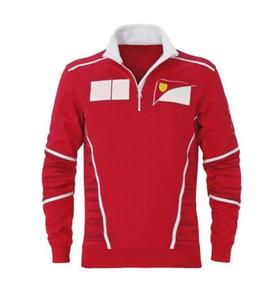 Rennfächer langärmliges Zip-Polo-Hemd F1 Saison-Team Joint Quick-Trocknender Anzug-Car-Logo-Overall können angepasst werden