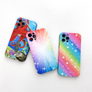 rainbow satr TPU phone case For iPhone 12 mini iphone 11 pro max iphone xr xs max 6 7 8 Plus back protective cover case