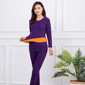 Thick Warm Winter Thermal Underwear For Men Women Thermo Clothing Velvet Female Winter Pajamas Set Thermal Suit Male Long Johns LJ201008