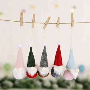 Regalos de Navidad Decoración Colgante Colgante Muñeca Colgante Creativo Pequeño bosque pequeño Bosque Anciano Muñeca sin rostro Colgante para decoración del hogar 4 * 13cm