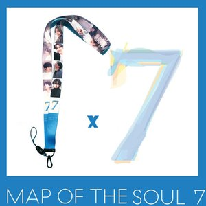 Bangtan Boys New Album Map of Soul 7 Straps Plastic Clip Hanging Neck Rope Mobile Phone Lanyard Creative Accessories