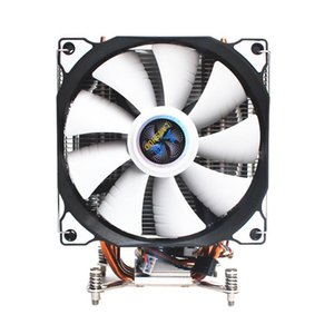 LANSHUO CPU silencioso dupla Fan 4 Heat Pipe 3 fios Cooler Fan para Intel LGA 2011 Auto-Contido Backplane Motherboard