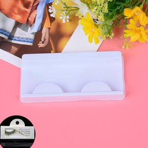 10 Sets Beige Pink Trays Eye Lash Tray Clear Box Lashes Packing Boxes Eyelashes Packing Box Eyelashes Packaging Transparent Lid
