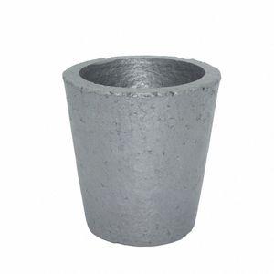 Wholesale- 4 # Foundry Siliziumkarbid Graphittiegel Cup Furnace Fackel Schmelzguss Refining Gold Silber Kupfer Messing Aluminium SdyX #
