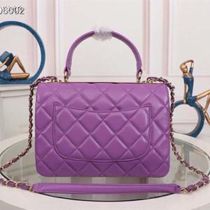 2020 top qualität handtaschen frauen echt leder top griff taschen taschen luxus mode design eine umhängerrasse geldbörse mit hardware