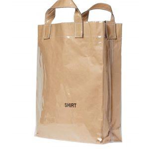 Kraft Paper pvc Bag Shooping Tote Bags Ins Couple Street Carrying Bag Men And Women Bags Storage Bags