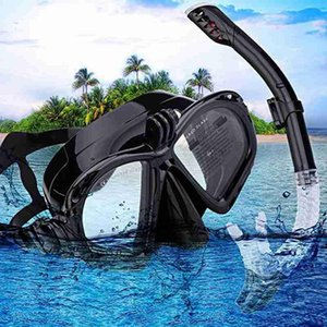 Professional scuba diving snorkel anti-fog breathable goggles diving set easy goggles dry swimming tube Z4F7