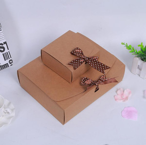 3 sizes kraft gift cardboard box paper Large present gift packing box for clothes garments scarf packing paper