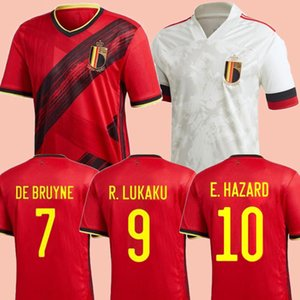 Nouveau 2020 League de la Coupe d'Europe Belgique Home Soccer Jersey de Bruyne Football Shirt Uniforme E.Hazard 2018 Belge Away Camiseta De Fútbol Kits
