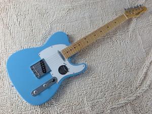 무료 배송 ! 텔레 솔리드 바디 기타 텔레비전 방송 스카이 블루 컬러 복고풍 스타일 전기 기타 재고