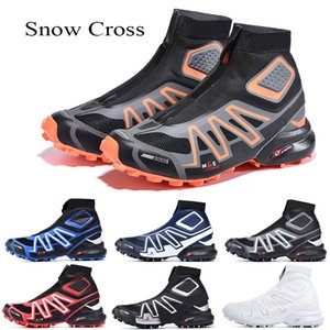 NUEVO Snowcross CS Trail Invierno Snow Hombres Botas Black Volt Azul Red Sock CHAUSSURES TRIPANTENADORES PARA HOMBRES DE NIEVE DE NIEVE DE INVIERNO 40-46