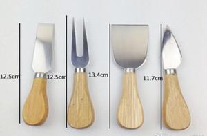 4pcs set cheese useful tools set oak handle knife fork shovel kit graters for cutting baking chesse board sets ya1120