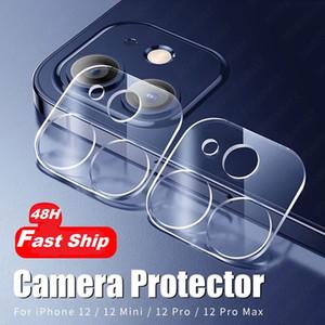 48 horas de vidrio de la cámara protectora de la lente protectora de la lente de la back de 48 horas para el protector de la cámara del iPhone 12 Mini 11 Pro Max para iPhone X XR 6S 8 Film Plus