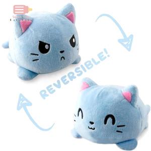 Réversible Unicorn Cat Gato Kids Cadeau Soft Cadeau Pouchée Poubelle Peluche Animaux Flip Doll Toy Péluches pour Pulpost Girl Q0109