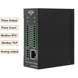 Modbus TCP Ethernet Uzaktan Fieldbus Otomasyon IO Modülü Dahili Watchdog Destekler haritalama M120T kayıt