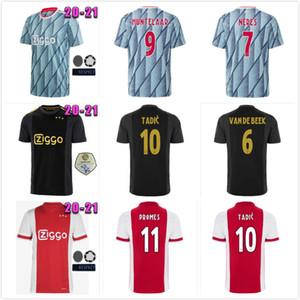 ajax 20 21 soccer jersey PROMES ajax Home away 3rd amsterdam VAN DE BEEK NERES 2020 2021 TADIC FOOTBALL SHIRT MEN + KIDS SETS uniforms