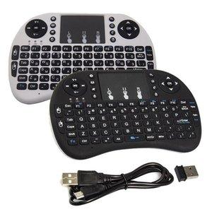 Cgjxs recarregável Mini Rii I8 Wireless Keyboard 2 .4g Air Mouse Teclados Remote Control Touchpad Para Smart Android TV Box Mxq Notebook Tabl