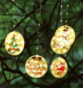 Рождественские кулон Светодиодная Света Строка 1.6 * 0.65M С Рождественской елкой Висит Окно подсветки Подвеска Занавес Строка EWA2126
