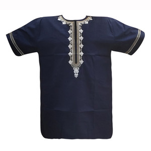 2020 Newest African embroidery Men T Shirt Dashiki Short Sleeve Causal Party Clothing