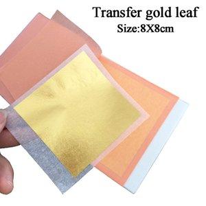 24K Essbare Blatt Echt 8x8cm für Kuchendekoration Kunsthandpapier Vergolden Transfer Goldfolienblätter Q1106