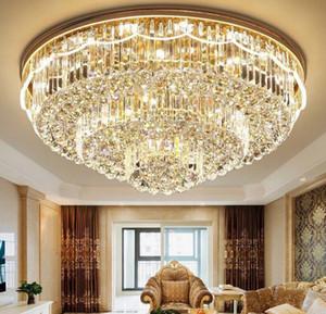 LED Crystal Ceiling Chandelier Luxury Villa Lamp Nordic Pendant Light for Hotel Lobby Clubhouse Living Room E14 Led Bulb Lights