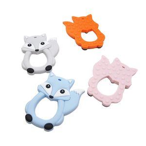 Chenkai 10PCS Fox silicone bébé Cut Teething Teether soins infirmiers Pacifier BPA pour nourrisson DIY Chewing apaisante Pacifier Chain 201017