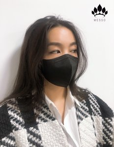 MESSO new Black mask 5 Layer KN95 Face mask certificate soft non-woven fthat considers even the skin Best technology and high quality profes