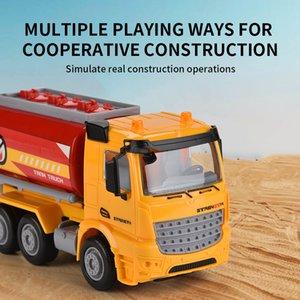 ABS véhicules de construction en plastique jouet pour réservoir jouet secours friction cognition apprentissage enfant voiture cadeau camion