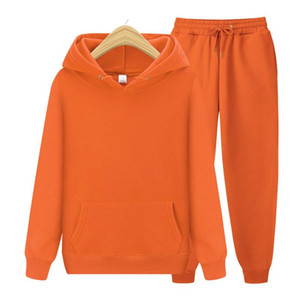 Clothes Hoodie Top and Pants Leisure Suits Ensemble Fleece Sweatshirt Two Piece Set Tracksuit Women 2 Pieces Autumn Winter