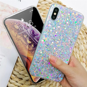 Glitter Crystal Phone Case For iPhone XR 11 Pro XS MAX Back Cover for iPhone 7 8 6 6S Plus X 12 Mini Pro Coque Bling Gradient Fundas Cases