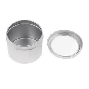 25 pcs jarros de estanho de alumínio (100ml) recipientes cosméticos rodada latas de lata com tampa de rosca para artesanato diy, cosméticos, salve, vela, viagem
