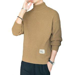Maglione da uomo Turtelneck Maglione invernale caldo maglione a colori solido