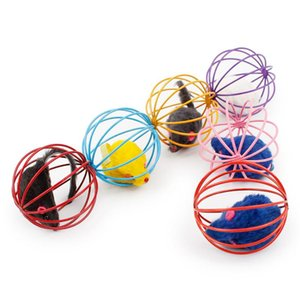 New Arrival Fun Gift Play Playing Toys False Mouse in Rat Cage Ball For Pet Cat Kitten