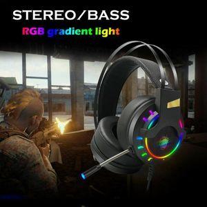 K3 Profesional Gaming Headset con la CAJA Deep Bass juego de auriculares con micrófono para PC Gamer envolvente sonido de la luz LED