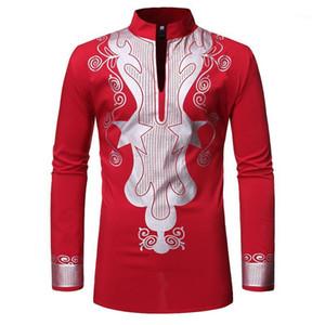 Mens Hipster African Dashiki Shirt Brand Mandarin Collar Tribal Gypsy Ethnic Shirts Men African Clothes Casual Hip Hop Clothing1